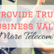 Provide True Business Value